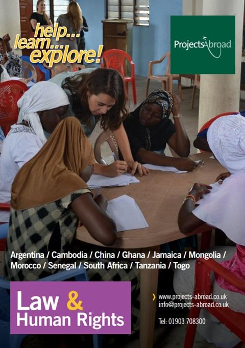 Projects Abroad Leaflet - Law & Human Rights