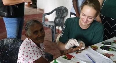 Volunteering on a medical placement