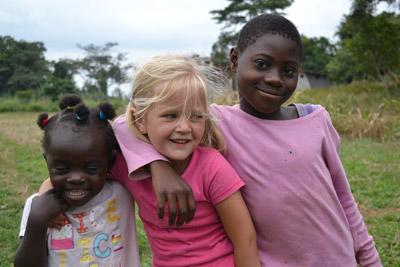 Children playing together in Ghana