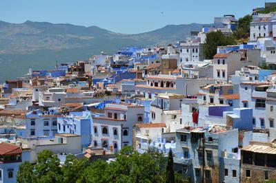 Chefchaouen homes blue-washed in colour