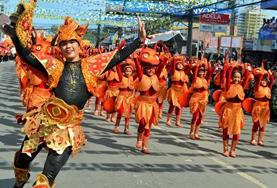 Locals participate in the Sinulog festival in the Philippines
