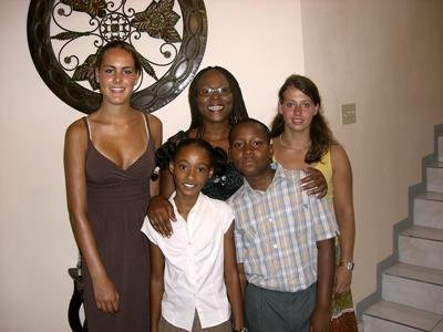 Host family in Jamaica