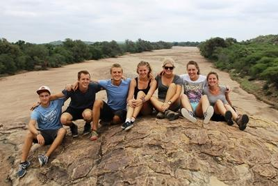 Volunteers at the Conservation project in Botswana