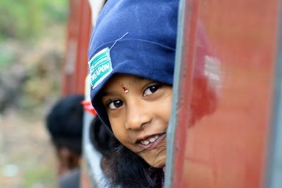 A smiling little girl in Sri Lanka