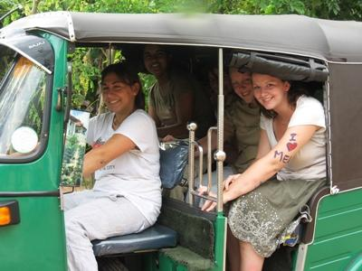 Volunteers taking local transport in Sri Lanka