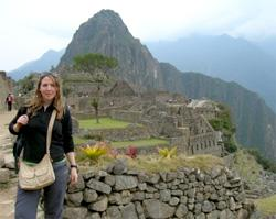 A Volunteer at Machu Picchu in Peru