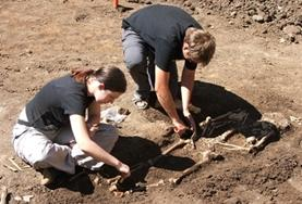 Archaeology volunteers continue excavation work at their placement in Romania