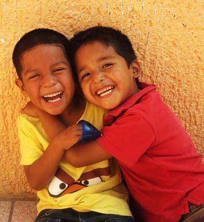 Smiling children at a Projects Abroad volunteer Care placement in Mexico