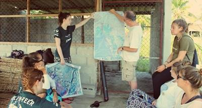 Volunteers on the Conservation project during an induction