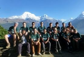 Himalayan Conservation Project volunteers pose for a picture at their placement in Nepal