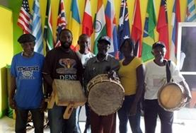 A band of local musicians from our volunteer Music placement in Jamaica.