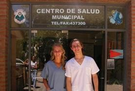 Physiotherapy volunteers pose for a picture at their placement in Mexico
