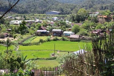 A scenic view over Andasibe village, Madagascar, where the Projects Abroad Public Health project is based