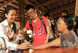 Public Health volunteers gain experience providing much-needed medical screening to local people in Cambodia.
