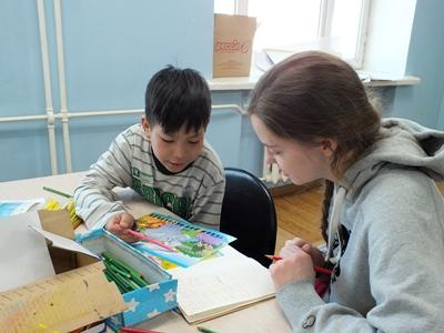 Volunteer on the Mongolia Care & Community High School Special project
