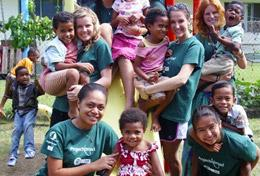 High School Special volunteers spend time with local children and immerse themselves in the culture and traditions of a village in Fiji.
