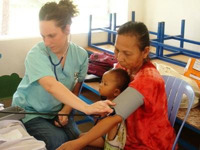 Public Health volunteer working in Cambodia