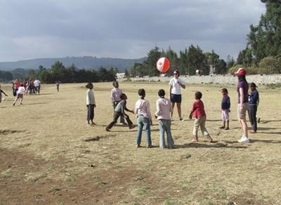 School sports coaching in Ethiopia